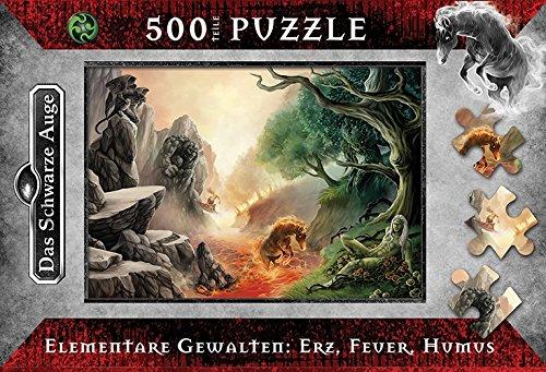 Das Schwarze Auge, Elementare Gewalten : Erz, Feuer, Humus. Puzzle (500 Teile)