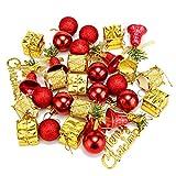 Jeteven Weihnachtskugeln Doker Christbaumschmuck Weihnachten Deko Weihnachtsbaumkugeln Anhänger Rot