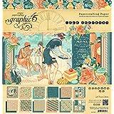 Graphic 45café parisino 12x 12bloc de papel, multicolor