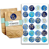 Papierdrachen Calendrier de l'Avent Mini set 26–autocollants et sachets