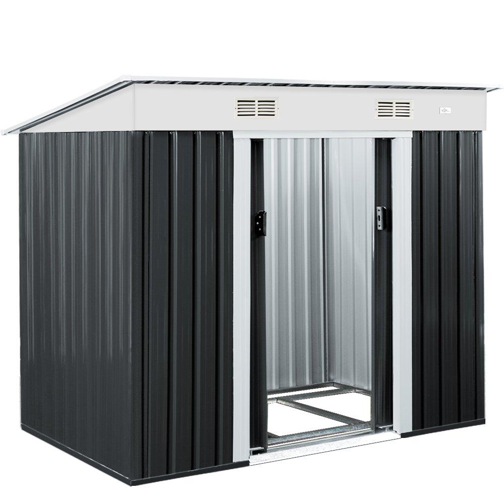 Super Metall Gerätehaus 196 x 122 x 180 cm ✓ inkl. Alu Bodenkranz  CW08