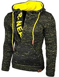 Herren Pulli Pullover Sweater Hoodie Zipper Verwaschen Washed Used Look M L NEU