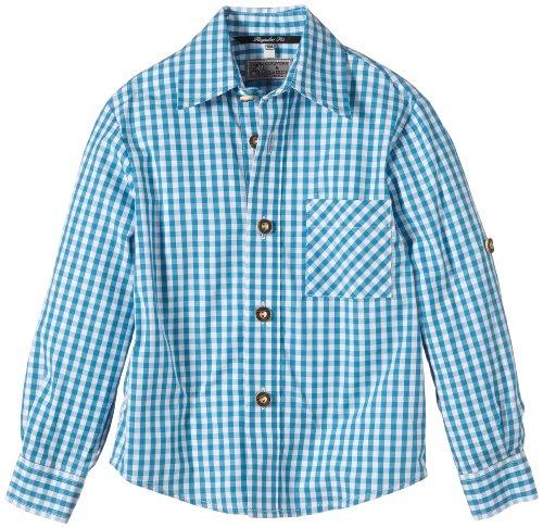 G.O.L. Jungen Hemd Trachtenhemd, Vichy-Karo, Gr. 164, Türkis (aqua/weiß 11)