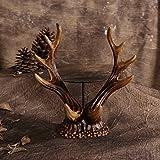 Upper-Creative rurale in stile Europeo del ferro antico candeliere vassoio di corna Candelabro Candelabro ornamenti nostalgia retrò modelli di alta fascia,E PICCOLE -JL00286