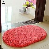 lyhhai Anti-Rutsch-Fußmatte, weich, flauschig, saugfähig, für Zuhause, Badezimmer, Fußmatte, Polyester, Wassermelone, 40 x 60 cm
