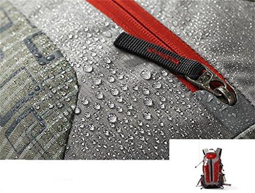 sport all'aria aperta borsa zaino alpinismo tracolla bag uomini e le donne del sacchetto di corsa a piedi ( Colore : Grigio , dimensioni : 30L ) Grande rosso