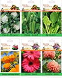 alkarty 3 vegetable and 3 flower seeds kit-4 (20 seeds each)
