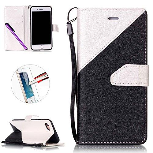 apple-iphone-7custodia-in-pelle-iphone-7custodia-a-portafoglio-iphone-7protezione-schermo-in-vetro-i