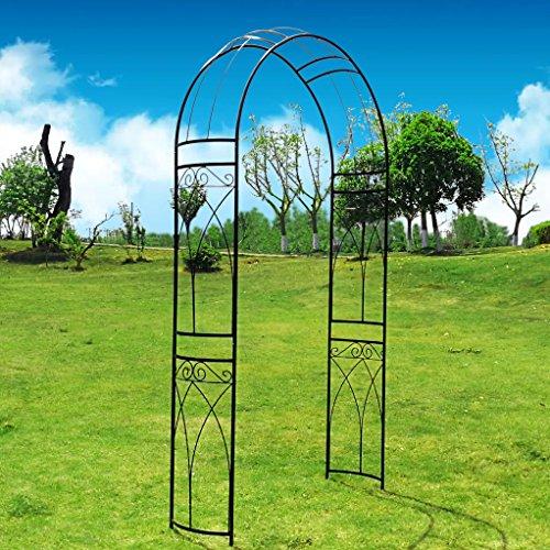OUTOUR® Arco de jardín de metal estereoscópico con curva elegante para plantas...