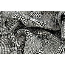 Tela de algodón mixto de lana para vestidos o abrigos de costura, tejido fabricado en