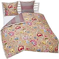 pip studio 260256100fr010 floral fantasy housse de couette coton kaki 200 x 200 cm