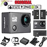 "Docooler Black, United States: Oversea Stock 2.0"" LCD Wifi Sports Action Camera Full HD 1080P 30FPS 12MP 4X Zoom 140 Degree Wide-Lens For Car DVR PC Camera"