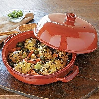Andrew Zimmern Global Roaster Glazed Terracotta Tagine by Andrew Zimmern by Andrew Zimmern