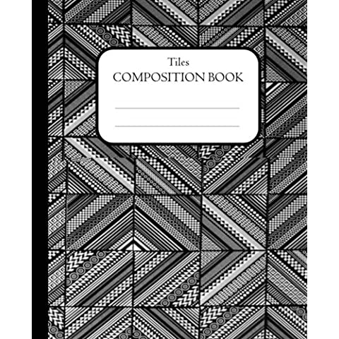 Tiles Composition Book: 100 pages, lined - Inglese Tile