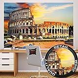 Fototapete Kolosseum in Rom Wand-dekoration - Wandbild Italien Poster-Motiv by GREAT ART (210 x 140 cm)