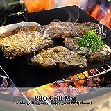 Becko Grill-und Backmatte / Grillmatte / BBQ-Grill Mat, 100% Antihaft, Spülmaschinenfest, 100% Zufriedenheit Garantie (Schwarz) (Packung :Größe:M X2)
