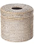 Diameter 6.25 inches x 5.75 inches tall. Diameter opening 4.5 inches;Hand Woven from rattan;Finished with a coating of clear lacquer;Wipe clean with damp cloth