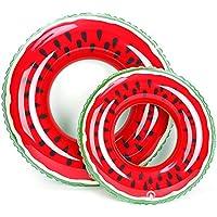 ZHANGJIANJUN Rojo Sandía Anillo flotadores inflables Piscina de Natación Natación para Adultos de Flotación flotadores Deportes Acuáticos Piscina Piscina Flotante Juguetes,Círculo Rojo 80cm.