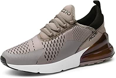 populalar - Scarpe da corsa, da uomo e da donna, scarpe da ginnastica, sneaker traspiranti, per corsa, fitness, palestra, outdoor, leggere., Marrone (3 marrone), 43 EU