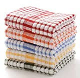 Aloud Creations Multicolour Dish Cloths, Kitchen Towel, Large Size 16*24 Inch, Pack of 3