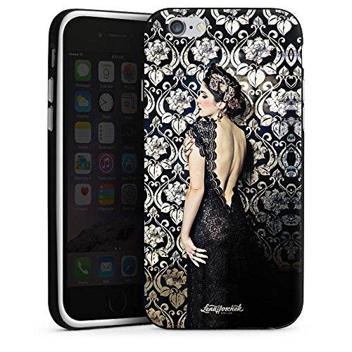 Apple iPhone 5 Housse étui coque protection Anna Karénine Mode Fashion Housse en silicone noir / blanc