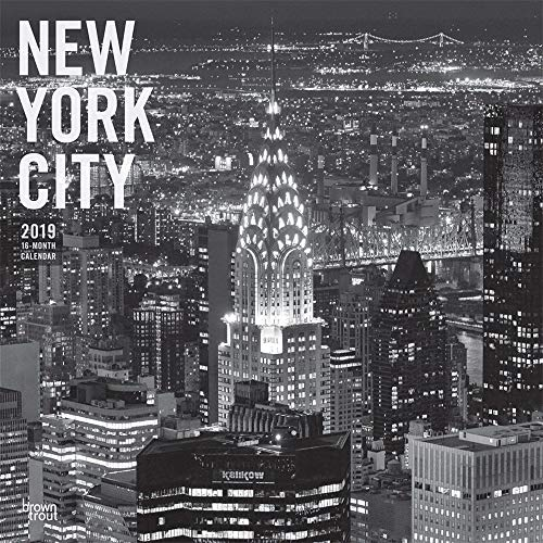 New York City 2019 Wandkalender, Schwarz/Weiß