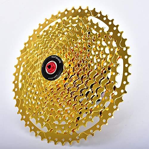 LJPzhp-Cassettes Hyperglide Kassette Mountain Flywheel Bike 11 Speed   50T Karte Hill Climb Schwungrad (Farbe : Gold, Größe : 11-50T) -