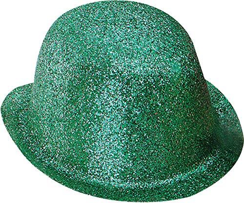 Bristol Novelty Unisex Erwachsene Hut Junggesellinnenabschied Party Zubehör Glitzer Bowler Kunststoff Hut Gr. Einheitsgröße, grün