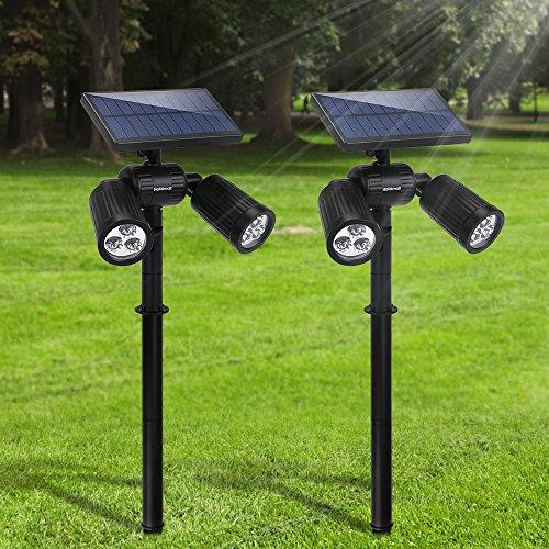 Lámparas Solares Negro Impermeable Marca FKANT