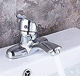 Daadi Küche Badezimmer voll Kupfer Wasser Mischventil mit Doppelwaschbecken heiße und kalte Waschbecken älteren Standard Becken 80 cm Schlauch Hahn für Küche Badezimmer Waschbecken Wasserhahn