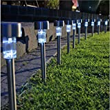 10 Pack Garden Solar Power Fairy Lights Weather Proof Party White Patio Deck