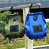 CFtrum 20L Doccia Solare Portatile per Campeggio Outdoor Giardino, Resistente e Durevole PVC Verde