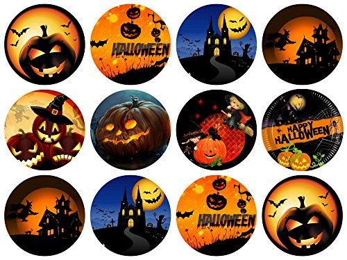 12 Stück Muffinaufleger Muffinfoto Aufleger Foto Bild Halloween rund ca. 6 cm (9) *NEU*OVP*