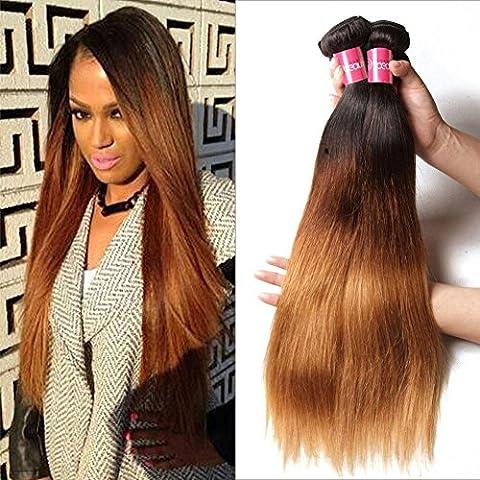 Meydlee AccessoriPosticci 3 fasci Ombre gradiente Mix dritto Lunghezza estensioni dei capelli umani , 16 18 20