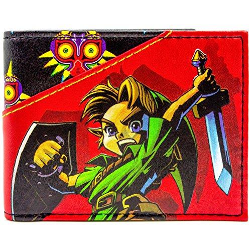 Nintendo Zelda Link Majoras Mask 3D Rot Portemonnaie Geldbörse