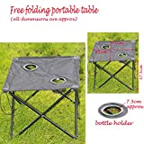 Foldable Garden Table 2 Cup holders Easy Stored Summer Beach Sun Lounger Tables