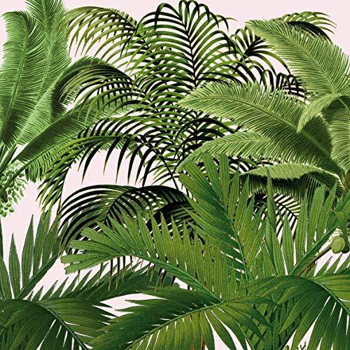Home Collection Servietten (2er Set / 40Stück) 3-lagig 33x33cm Palmen Blätter Dschungel