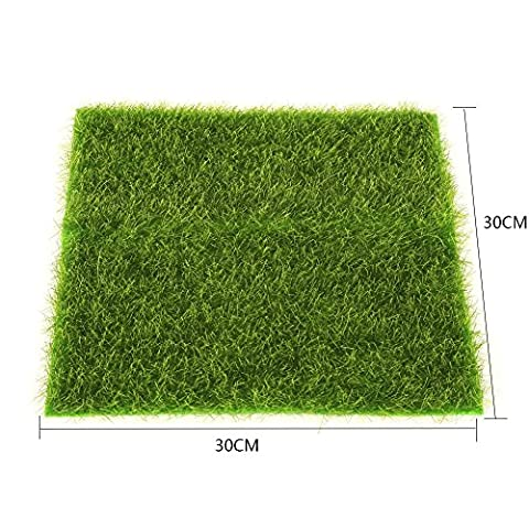 Artificielle Herbe Tapis Plastique Pelouse Grass Intérieur Extérieur Vert Synthétique Gazon Micro Ornement Paysage Décoration ( Size : 30cm X 30cm