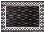 CarFashion Outdoor PUR DuraClean GEO18 Design Fussmatte, TPE-VC 100% Nachhaltig, Anthrazit-Metallic, 78 x 55 cm