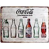 Nostalgic-Art Retro Tin Sign – Coca-Cola – Bottle Timeline – Gift idea for Coke fans, Metal Plaque, 30 x 40 cm