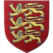 Escudo de armas real de Inglaterra Escudo León Británico Parche Bordado de Aplicación ...