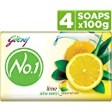 Godrej No.1 Bathing Soap – Lime & Aloe Vera, 100g (Pack of 4)