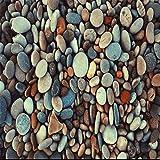 Hintergrundbild Wandsticker Wandtattoo Wanddekorationbenutzerdefinierte Fototapete Schöne Bunte Kopfsteinpflaster Hochwertige Tapeten Wandbilder Wohnzimmer Dekorativen Hintergrund, 150 * 105 Cm