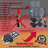 Kompatibel mit model GARADOR HSM2,HSM4,HS1,HS2,HS4,HSE2,HSD2-A,HSD2-C,HSP4,HSP4-C,HSZ1,HSZ2 Handsender ersatz
