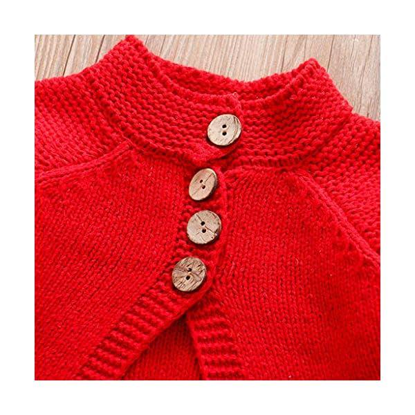 ASHOP Ropa Bebe Otoño Invierno, Chaqueta de Punto Chaqueta de Punto de niñas Jersey de Punto con Botones Ropa niños 2-8… 3