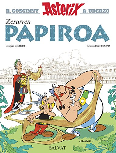 Zesarren papiroa (Asterix) (Basque Edition)