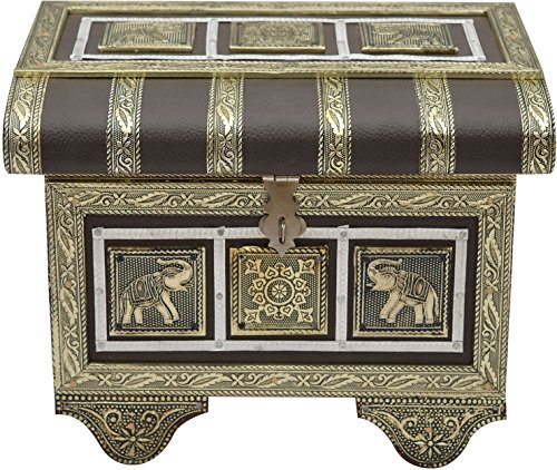 Kunj handicraft Jewelry cum Bangle Box antique look Patari Shape