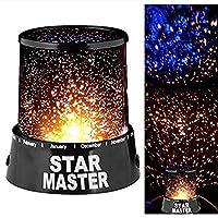 Yıldızlar LED Star Master yıldızlı gökyüzü ışık gece lambası yatak ev dekorasyon ışık Skitic lamba Sevgililer Günü Doğum Günü Hediyesi Lamp (Siyah)