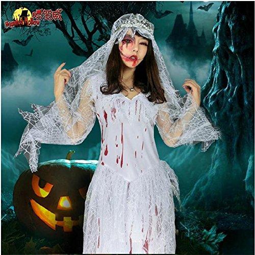 Halloween Kostüm Cosplay Kleidung Geist Braut Horror blutigen Erwachsenen Zombie Hexe Kleid Festival / Halloween / Weihnachten (Kind Vampir Braut Kostüm)