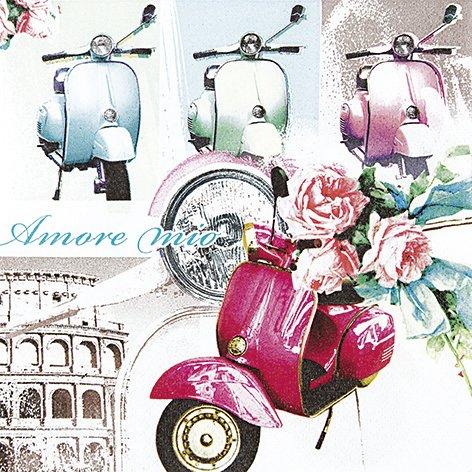 20 Servietten Vespa di Roma - Vespa in Rom / Italien / Motorrad / Moped 33x33cm